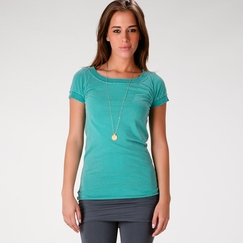 SALE / Om Girl Ballet Tee in Aqua