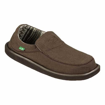 Sanuk Chiba Stitched Shoe in Dark Brown