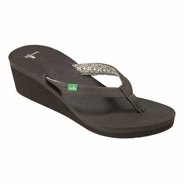 Sanuk Yoga Zen Wedge Sandal ( Brown )