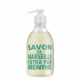 Savon de Marseille Extra Pur Liquid Soap (10 oz Plastic Bottle) in Mint Tea