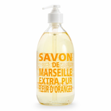 Savon de Marseille Extra Pur Liquid Soap (16.9 oz Glass Bottle) ( Orange Blossom )
