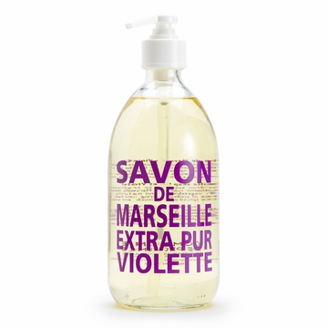 Savon de Marseille Extra Pur Liquid Soap (16.9 oz Glass Bottle) ( Violet )