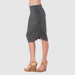 Sense Ruched Pencil Skirt in City Grey