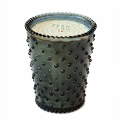 Simpatico Hobnail Glass Candle in Fern