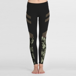 Solow Camo Print Legging in Black/Camo