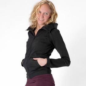 Solow Hooded Running Jacket in Black