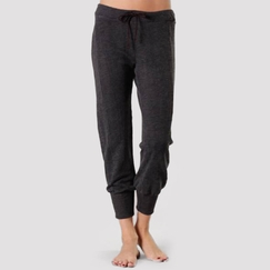 Solow Slouchy Crop Pant in Gunmetal