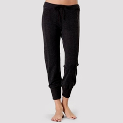 Solow Slouchy Crop Pant in Black