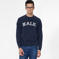 Sub Urban Riot Kale Sweatshirt in Navy/White