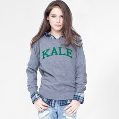 Sub Urban Riot Women's Kale Sweatshirt in Heather/Green