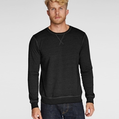 Organic Threads 4 Thought Burnout Crew in Black
