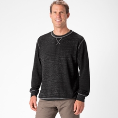 Organic Threads 4 Thought Burnout Crew Neck Sweatshirt in Heather Grey