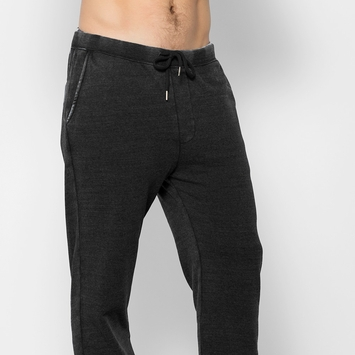 Organic Threads 4 Thought Burnout Wash Jogger Pant in Black