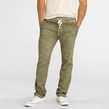 Organic Threads 4 Thought Burnout Fleece Pant in Bronze Green