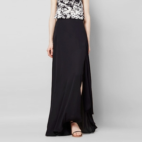 Three Eighty Two Charlize Maxi Skirt in Black