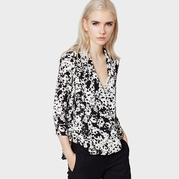 Three Eighty Two Griffin 3/4 Sleeve Surplice Blouse in Calin Print