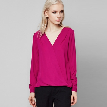 Three Eighty Two Sienna Surplice Blouse in Orchid