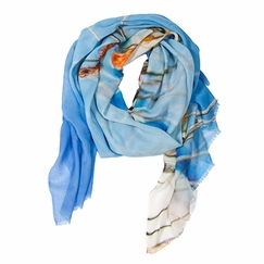 Tilo Beach Scene Scarf in Blue