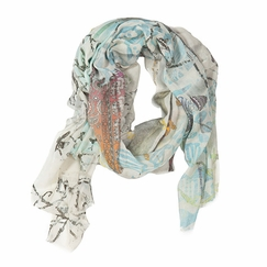 Tilo Butterfly Print Scarf in Multi