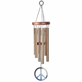 Woodstock Wind Chimes Small Peace Chime in Bronze