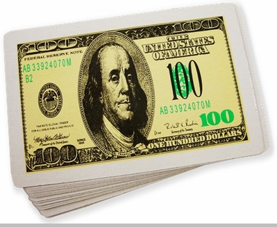 $100 Bill Playing Cards<!-- Click to Enlarge-->