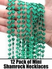12 Mini Shamrock Necklaces