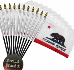 12 pack of 4x6 Inch California Flag (12 Pack)