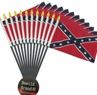 12 Pack of 4x6 Inch Confederate Flag (12 Pack)