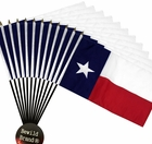 12 Pack of 4x6 Inch Texas State Flag (12 Pack)