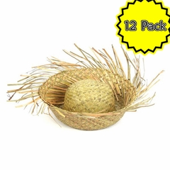 12 Pack of Beach Comber Straw Hats