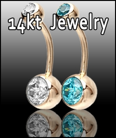 14Kt Gold Body Jewelry
