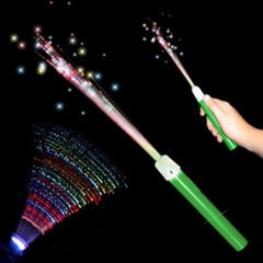 15 inch Multicolor LED Fiber Optic Party Wand