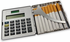 2 in 1 Calculator Business Card & Cigarette Case (For Regular Size Only)