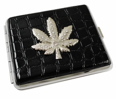 2 in 1 Pot Leaf Cigarette Case Belt Buckle With Free Belt