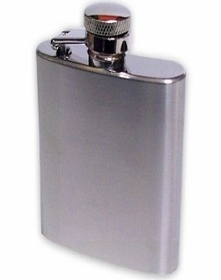 3 1/2 oz. Polished Stainless Steel Hip Flask