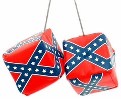 "3"" Confederate Rebel Flag Hanging Dice"