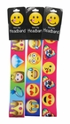 3 Pack Of Assorted Emoji No Slip Grip Headbands