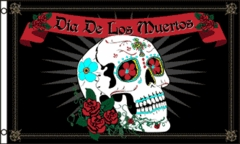 3 x 5 Day of the Dead Flag