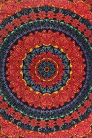 3D Blooming Butterfly Mandala Tapestry 60 x 90""