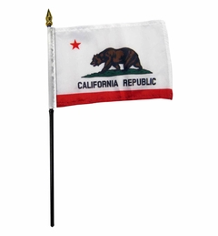 4x6 Inch California State Flag