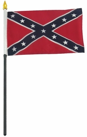 4x6 Inch Confederate Flag