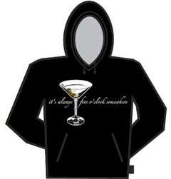 5 O'clock Somewhere Martini Hoodie