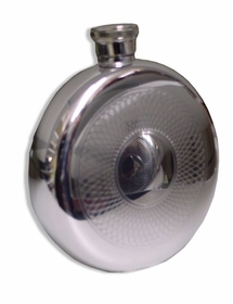 5 ounce Round Etched Flask