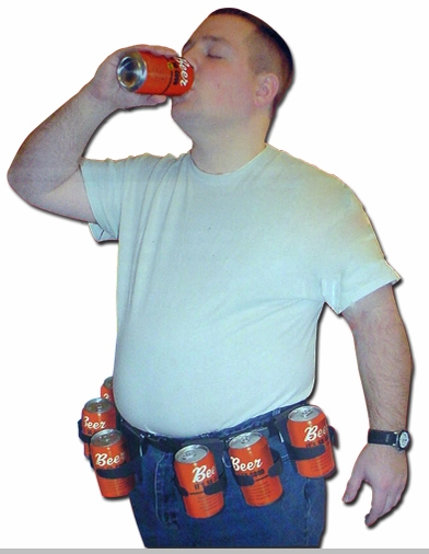 6 Pack Beer Belt ::  A Belt That can Hold Your Beers $19.99<!-- Click to Enlarge-->