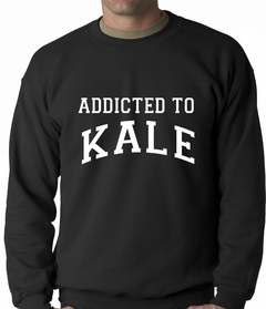 Addicted to Kale Adult Crewneck