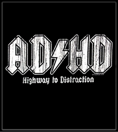"""ADHD  Distressed Logo T-Shirt :: From HBO's Hit Series """"The Entourage"""""""