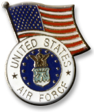 Air Force With Flag Lapel Pin