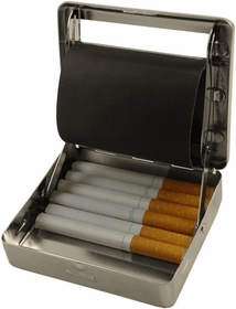All In One Automatic Cigarette Roller & Storage Box  (Silver) (For Regular Size Only)
