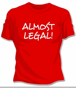 Almost Legal Girls T-Shirt<!-- Click to Enlarge-->