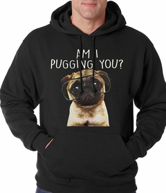 Am I Pugging You Funny Pug Adult Hoodie